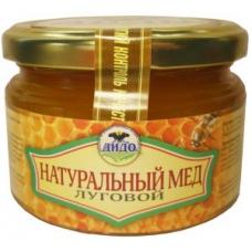 ЛУГОВОЙ мёд, 100% натуральный, без добавок, ДОРОГОЙ, ЭКО, КФХ ДИДО, Дагестан, стекло, 330 грамм
