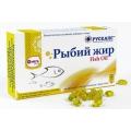 РЫБИЙ ЖИР, Fish Oil, РУСКАПС, 30 капсул