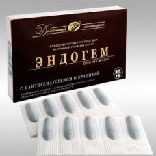 ЭНДОГЕМ для мужчин, Пантопроект, интимная гигиена, 10 суппозиториев